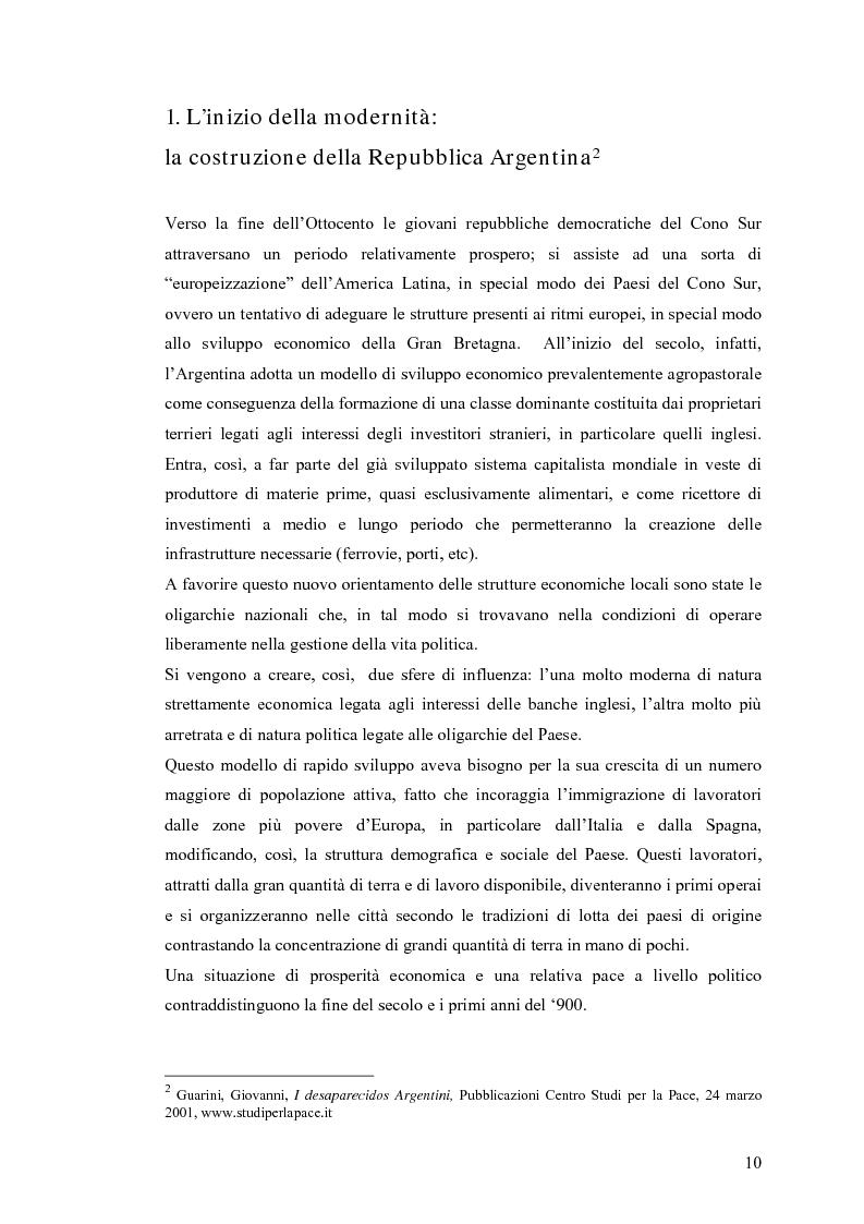 Anteprima della tesi: Argentina: la storia attraverso la macchina da presa, Pagina 6