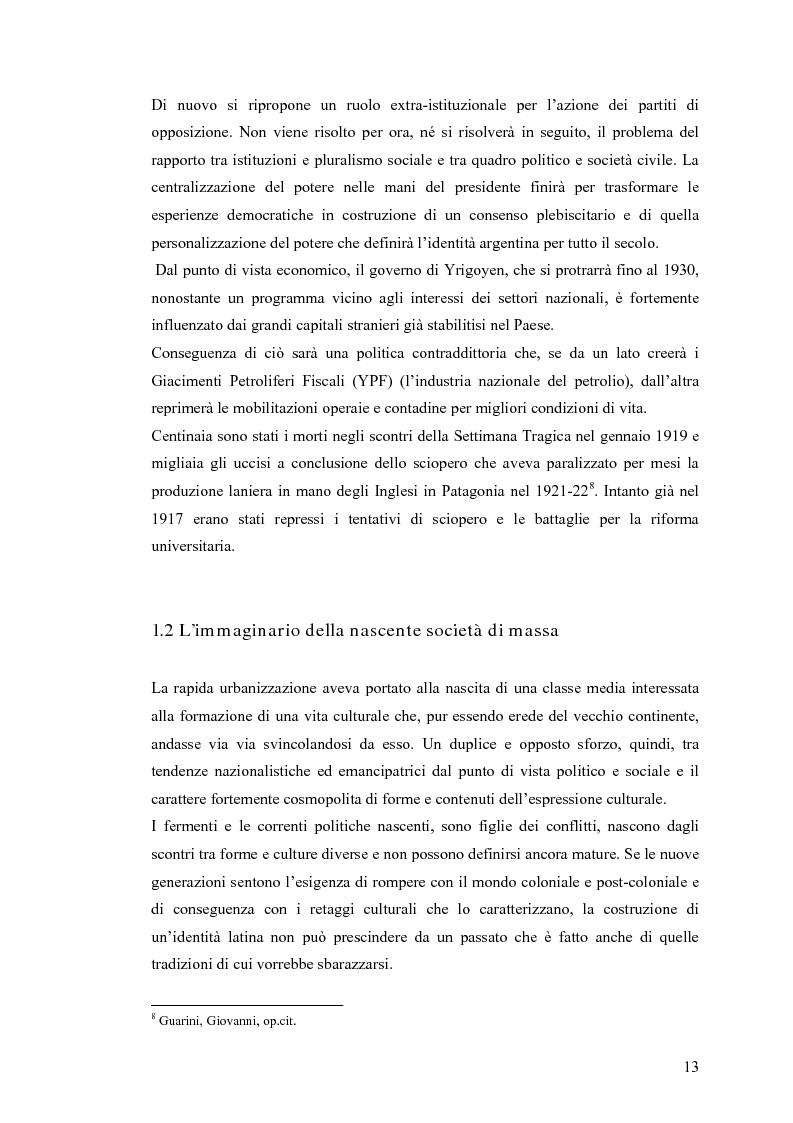 Anteprima della tesi: Argentina: la storia attraverso la macchina da presa, Pagina 9