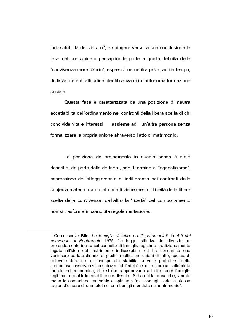 Anteprima della tesi: La famiglia di fatto, Pagina 6