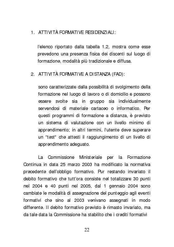 Anteprima della tesi: Dall'aggiornamento obbligatorio ad un modello di Sviluppo Professionale Continuo in medicina. L'esperienza del Knowledge Centre dell'ospedale di Udine, Pagina 13