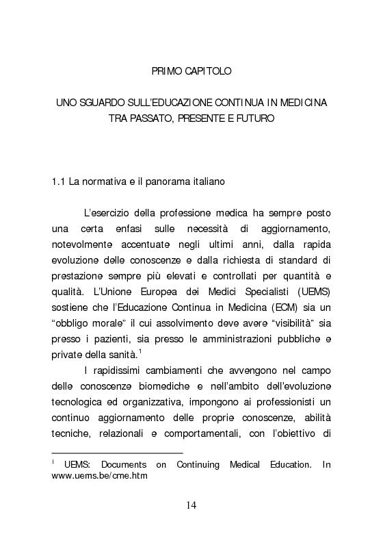 Anteprima della tesi: Dall'aggiornamento obbligatorio ad un modello di Sviluppo Professionale Continuo in medicina. L'esperienza del Knowledge Centre dell'ospedale di Udine, Pagina 5