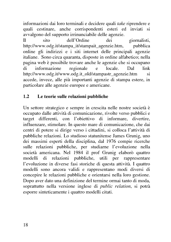 Anteprima della tesi: Il servizio stampa dell'europarlamento. Raccolta, selezione, trattamento delle notizie sulla principale istituzione europea, Pagina 11