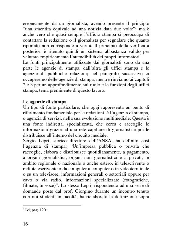 Anteprima della tesi: Il servizio stampa dell'europarlamento. Raccolta, selezione, trattamento delle notizie sulla principale istituzione europea, Pagina 9