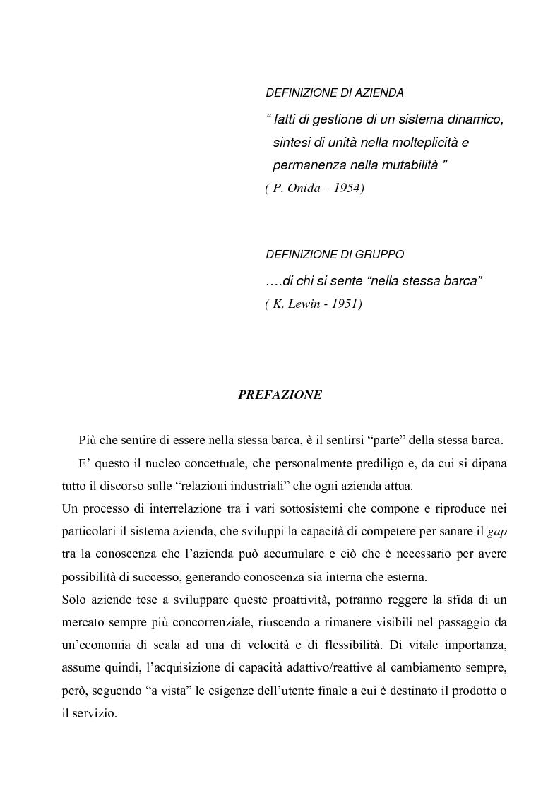 Anteprima della tesi: Evoluzioni delle Relazioni industriali e gestione delle risorse umane nelle pubbliche Amministrazioni: il caso Giunta regionale Abruzzo, Pagina 1