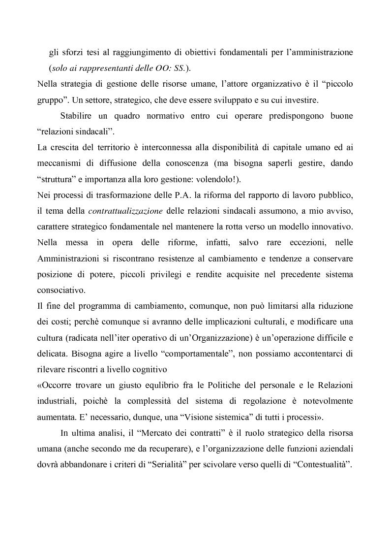 Anteprima della tesi: Evoluzioni delle Relazioni industriali e gestione delle risorse umane nelle pubbliche Amministrazioni: il caso Giunta regionale Abruzzo, Pagina 13