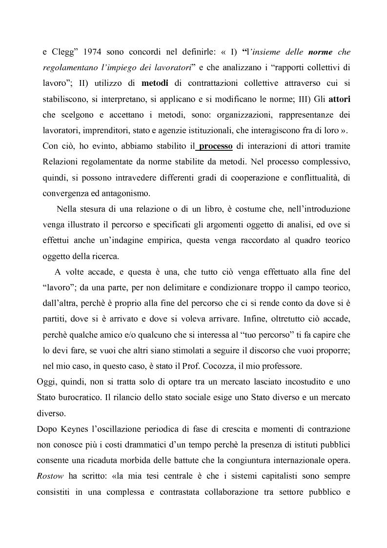 Anteprima della tesi: Evoluzioni delle Relazioni industriali e gestione delle risorse umane nelle pubbliche Amministrazioni: il caso Giunta regionale Abruzzo, Pagina 3