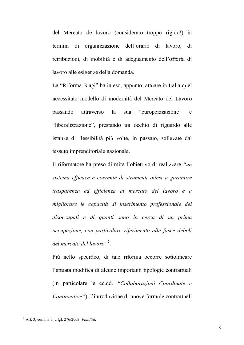 Anteprima della tesi: La riforma Biagi del mercato del lavoro: i contratti a progetto, Pagina 2