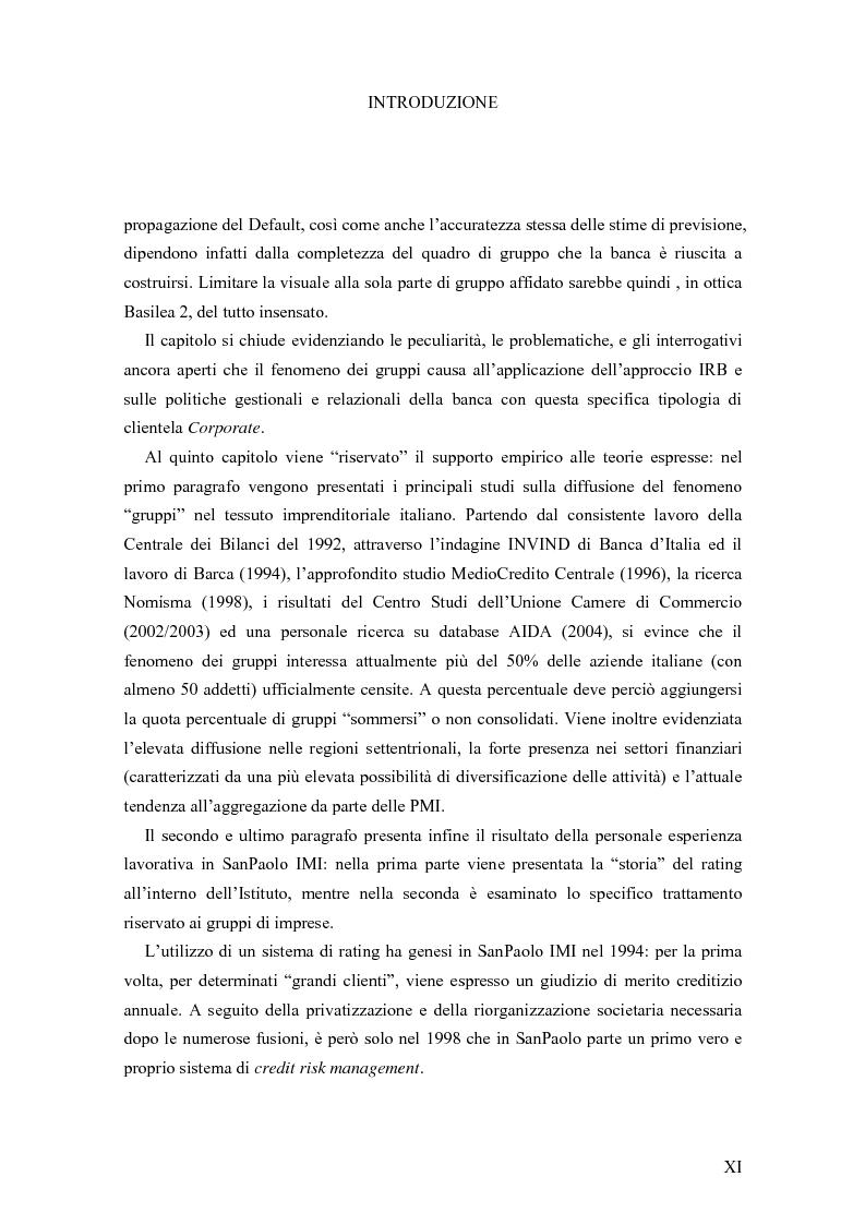 Anteprima della tesi: I Modelli di Assegnazione del Rating in presenza di Gruppi di Imprese, Pagina 11