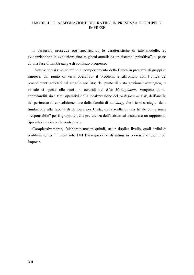Anteprima della tesi: I Modelli di Assegnazione del Rating in presenza di Gruppi di Imprese, Pagina 12