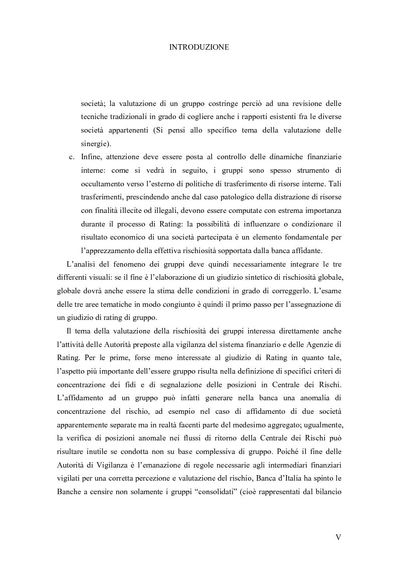 Anteprima della tesi: I Modelli di Assegnazione del Rating in presenza di Gruppi di Imprese, Pagina 5