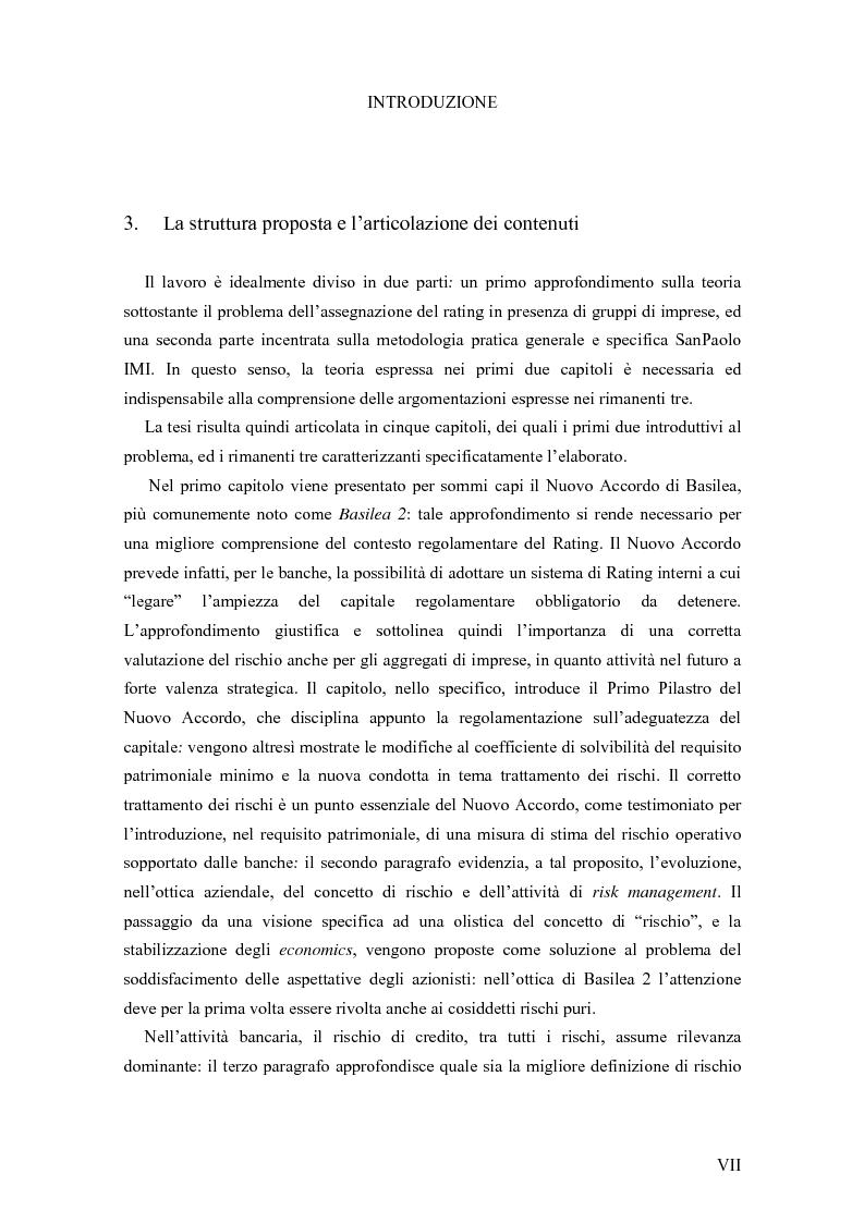 Anteprima della tesi: I Modelli di Assegnazione del Rating in presenza di Gruppi di Imprese, Pagina 7