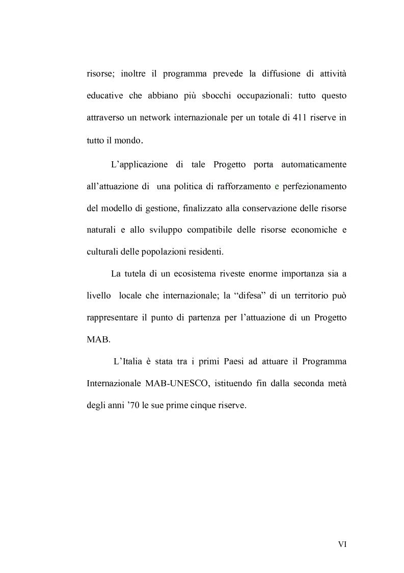 Anteprima della tesi: Le Riserve Internazionali della Biosfera dell'UNESCO. Progetto M.A.B., Pagina 3