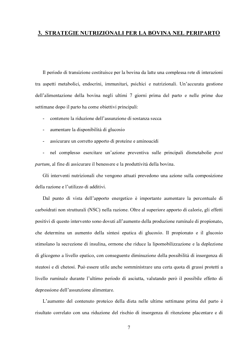 Anteprima della tesi: Somministrazione di due antiossidanti naturali alla bovina nel periparto: effetti sui parametri quali-quantitativi del latte e sullo stato ossidativo del siero, Pagina 7