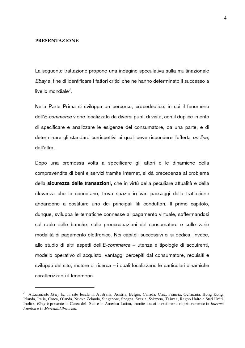 Anteprima della tesi: Il caso Ebay: fattori critici di successo, Pagina 1