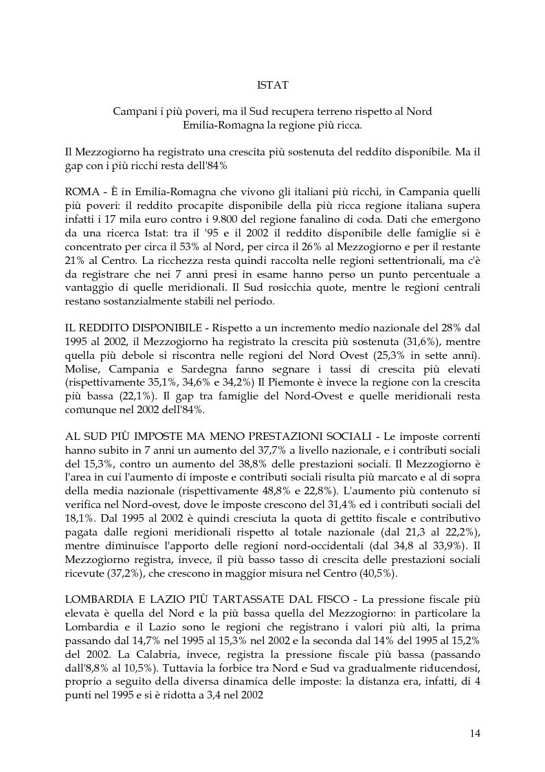 Anteprima della tesi: Vita, morte e ''miracoli'' dell'Economia e del (sotto) Sviluppo in Campania-1860/2004, Pagina 10