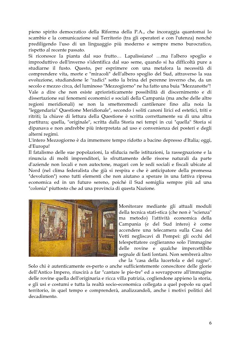 Anteprima della tesi: Vita, morte e ''miracoli'' dell'Economia e del (sotto) Sviluppo in Campania-1860/2004, Pagina 2