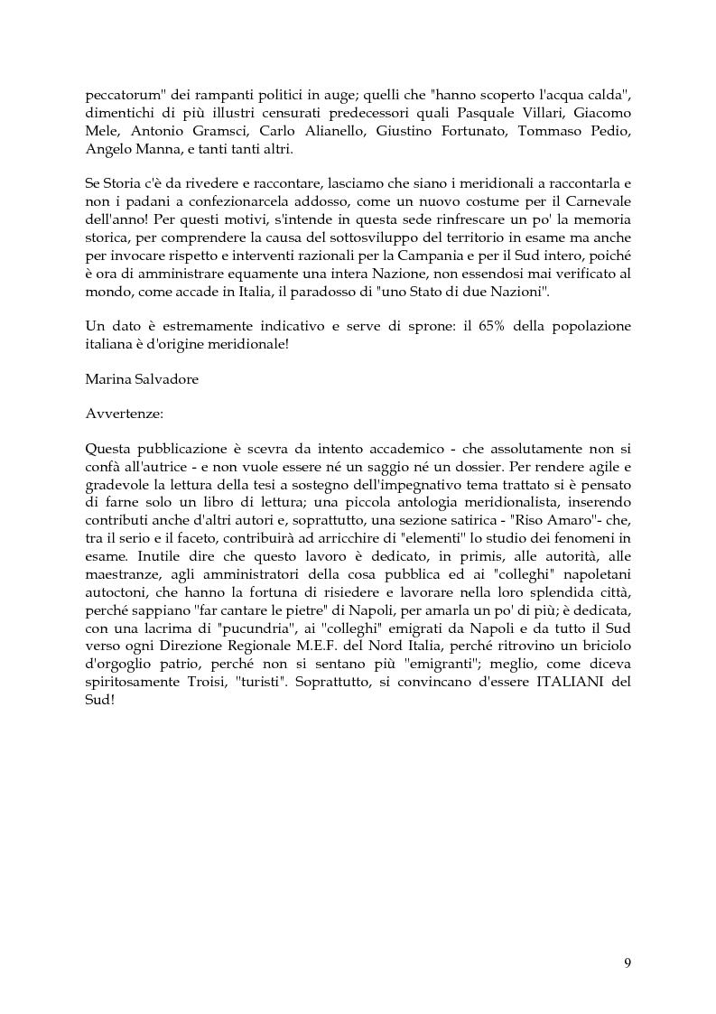 Anteprima della tesi: Vita, morte e ''miracoli'' dell'Economia e del (sotto) Sviluppo in Campania-1860/2004, Pagina 5