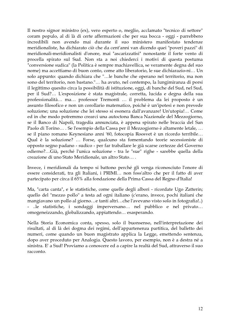 Anteprima della tesi: Vita, morte e ''miracoli'' dell'Economia e del (sotto) Sviluppo in Campania-1860/2004, Pagina 8