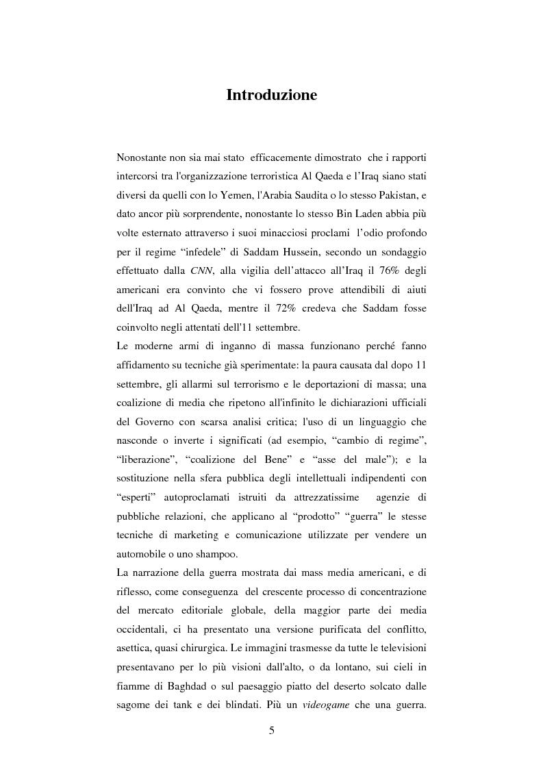 Anteprima della tesi: Disinformazione di guerra. Il caso Al Jazeera, Pagina 1