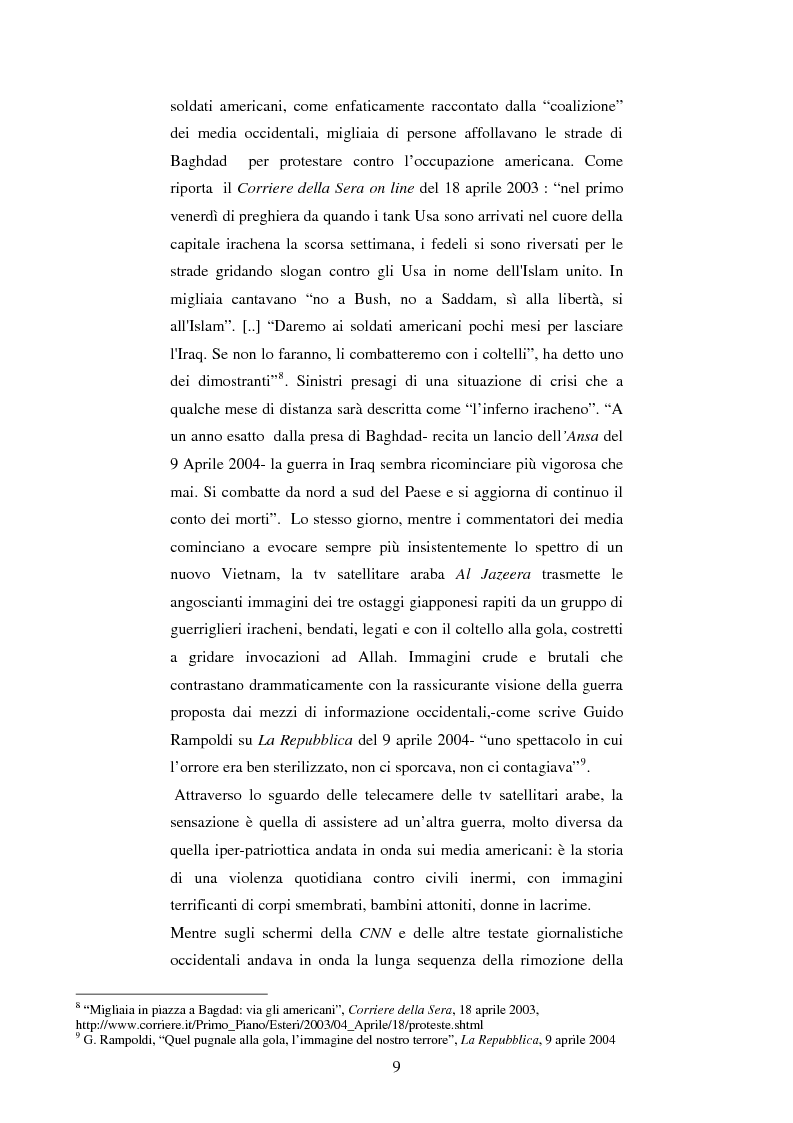 Anteprima della tesi: Disinformazione di guerra. Il caso Al Jazeera, Pagina 5