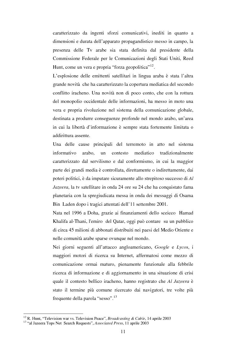 Anteprima della tesi: Disinformazione di guerra. Il caso Al Jazeera, Pagina 7