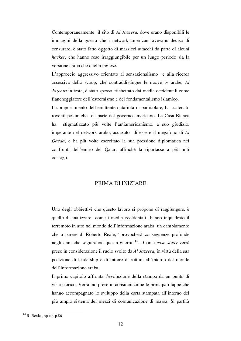 Anteprima della tesi: Disinformazione di guerra. Il caso Al Jazeera, Pagina 8
