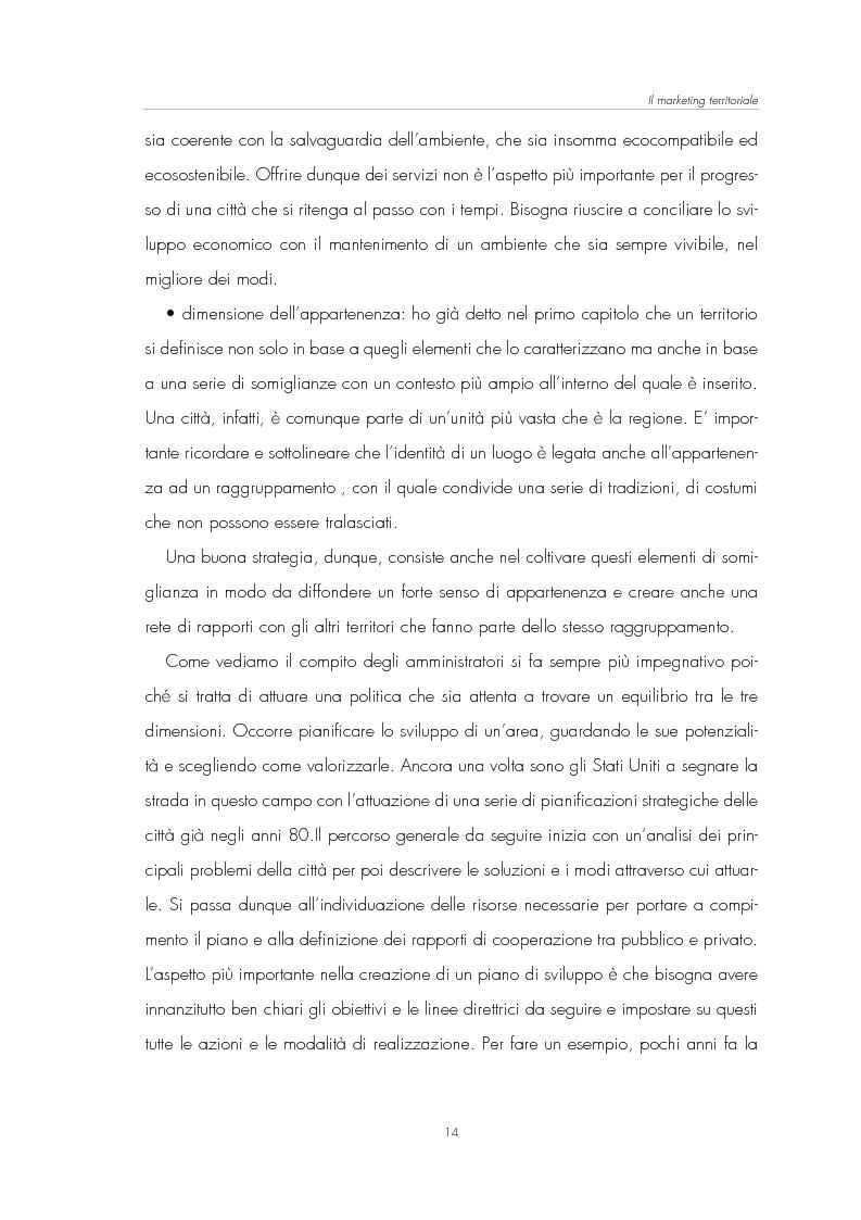 Anteprima della tesi: Il Marketing Territoriale: come cambiare l'immagine di una città, Pagina 10