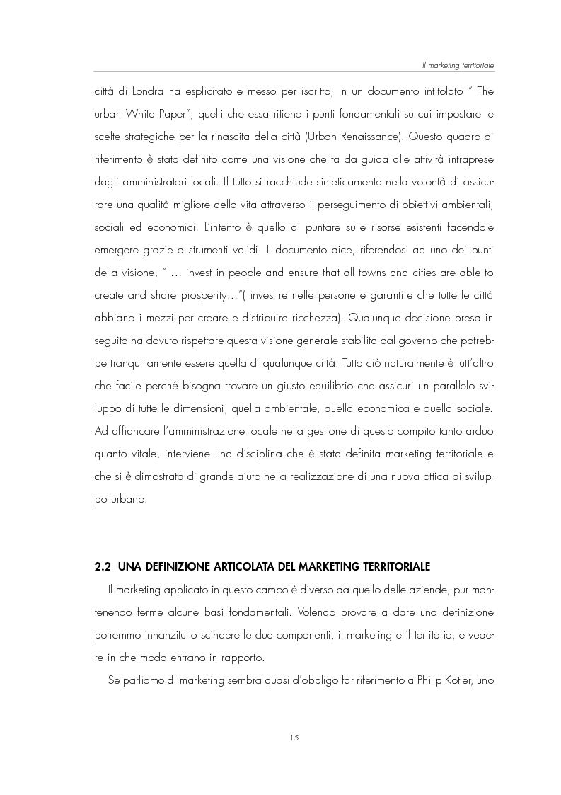 Anteprima della tesi: Il Marketing Territoriale: come cambiare l'immagine di una città, Pagina 11