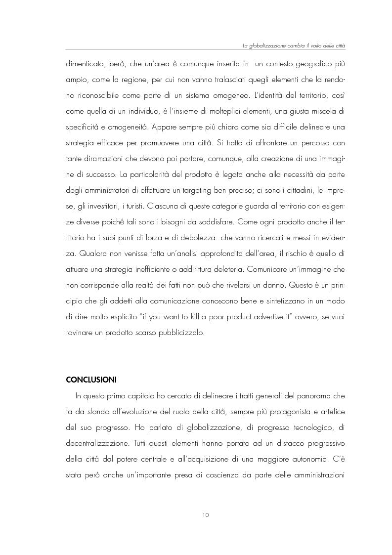 Anteprima della tesi: Il Marketing Territoriale: come cambiare l'immagine di una città, Pagina 6
