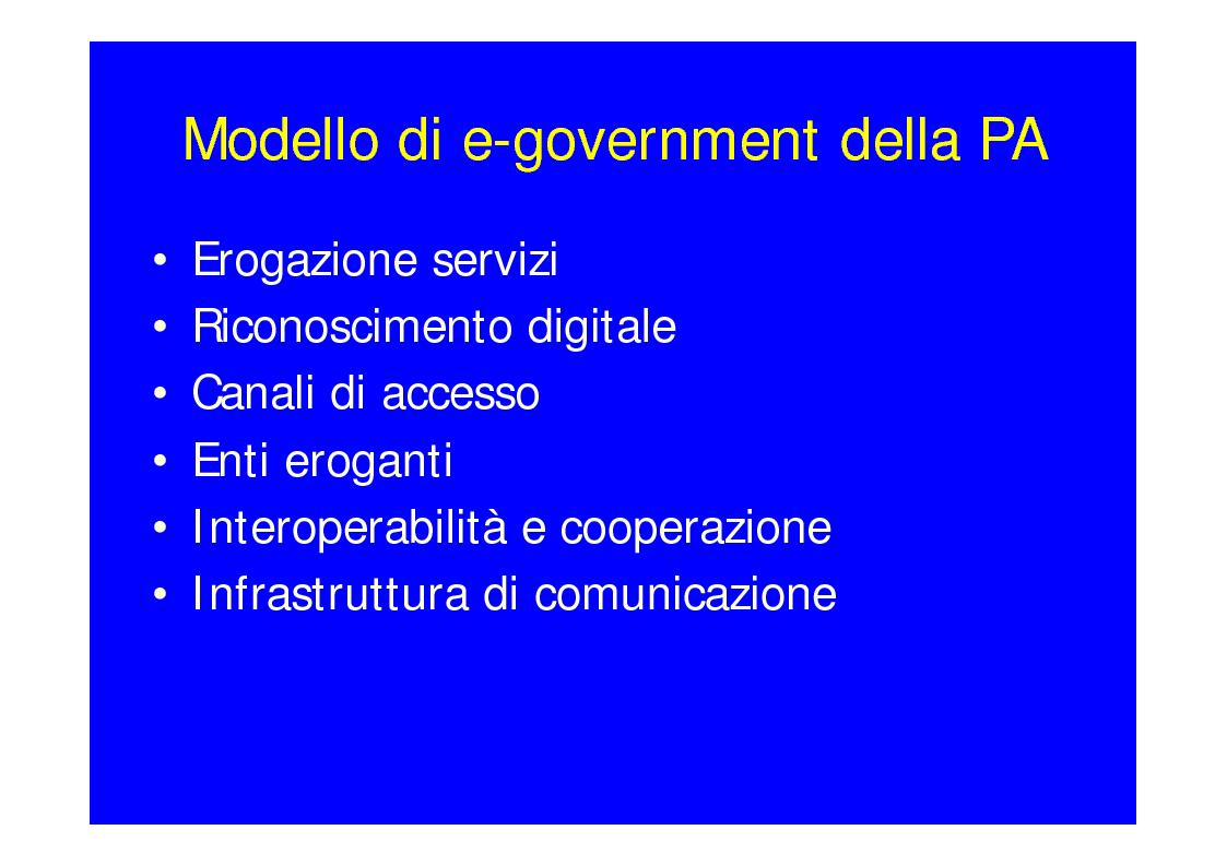 Anteprima della tesi: Lo stato dell'arte dell'E-Government, Pagina 2