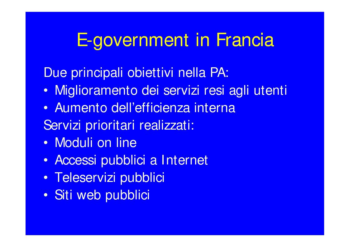 Anteprima della tesi: Lo stato dell'arte dell'E-Government, Pagina 8