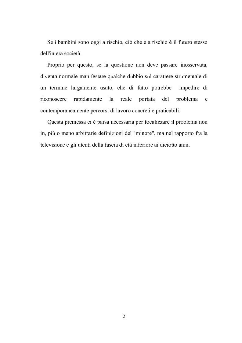 Anteprima della tesi: Ruolo della televisione nella socializzazione dei minori, Pagina 2
