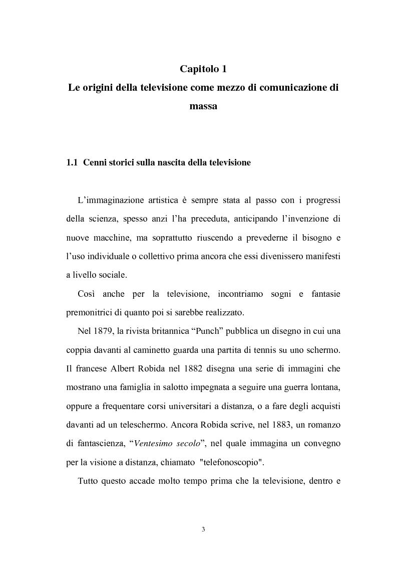 Anteprima della tesi: Ruolo della televisione nella socializzazione dei minori, Pagina 3