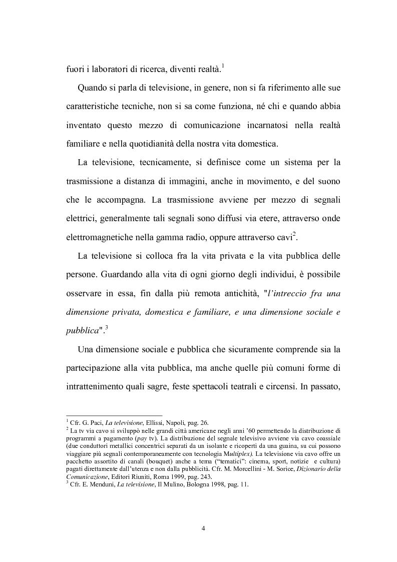 Anteprima della tesi: Ruolo della televisione nella socializzazione dei minori, Pagina 4
