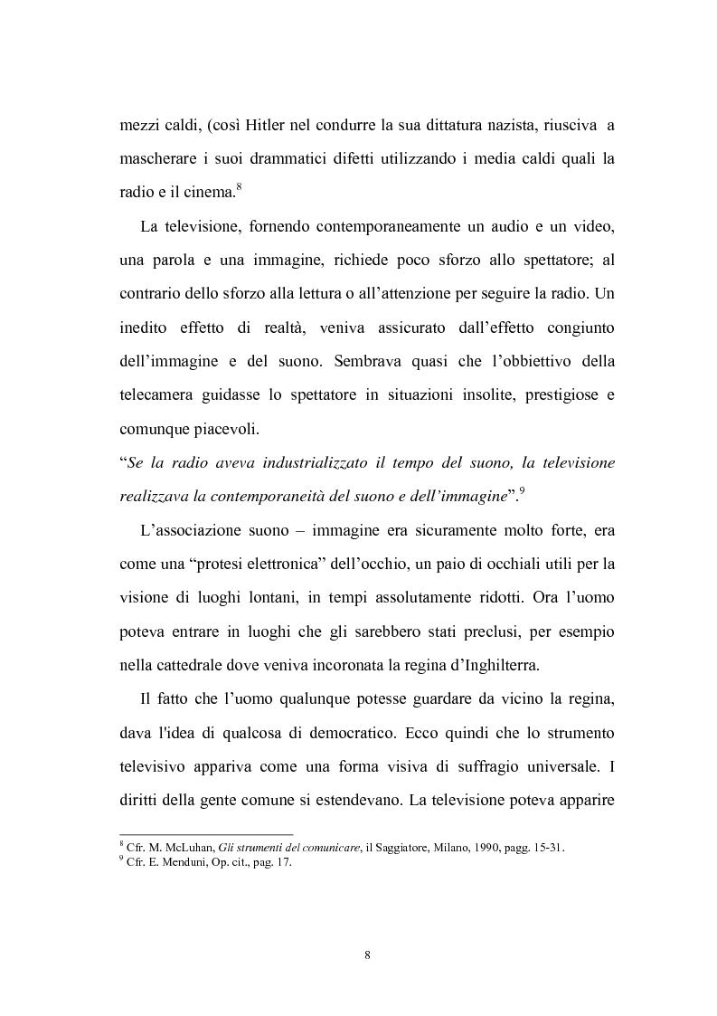 Anteprima della tesi: Ruolo della televisione nella socializzazione dei minori, Pagina 8