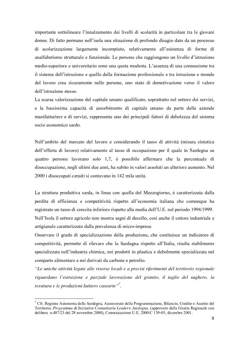Anteprima della tesi: L'iniziativa comunitaria Leader plus: nuovi approcci di sviluppo rurale integrati e sostenibili. Misura 1.8 (P.O.R. Sardegna Ob. 1): formazione per la gestione delle risorse naturali, Pagina 5
