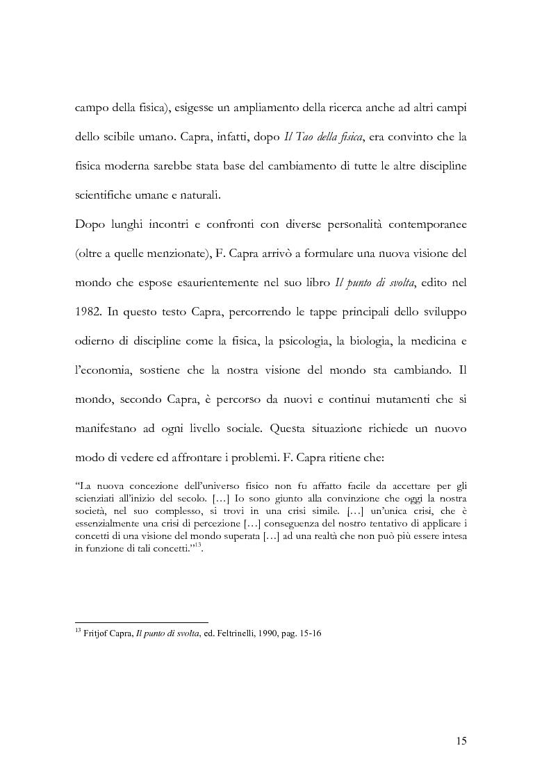 Anteprima della tesi: I nuovi paradigmi della conoscenza psicologica nel pensiero di Fritjof Capra, Pagina 12
