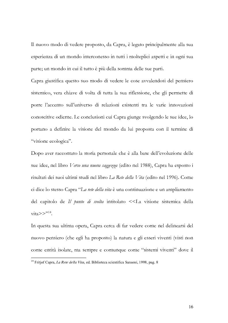 Anteprima della tesi: I nuovi paradigmi della conoscenza psicologica nel pensiero di Fritjof Capra, Pagina 13