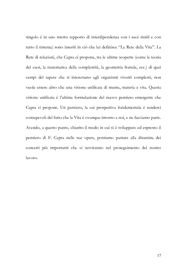 Anteprima della tesi: I nuovi paradigmi della conoscenza psicologica nel pensiero di Fritjof Capra, Pagina 14