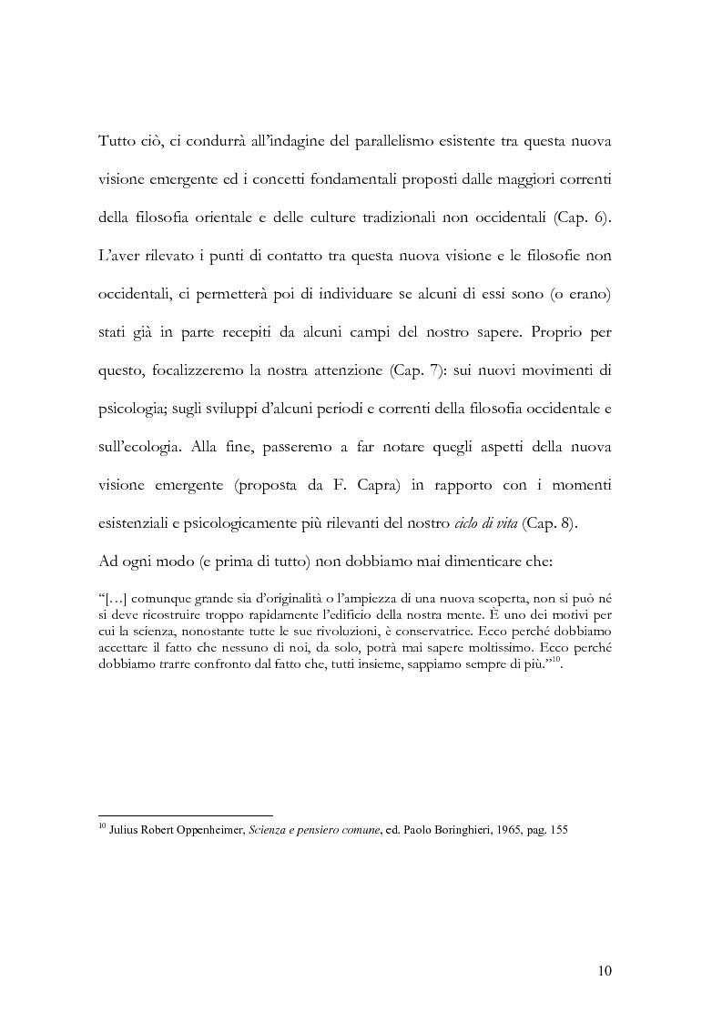 Anteprima della tesi: I nuovi paradigmi della conoscenza psicologica nel pensiero di Fritjof Capra, Pagina 7