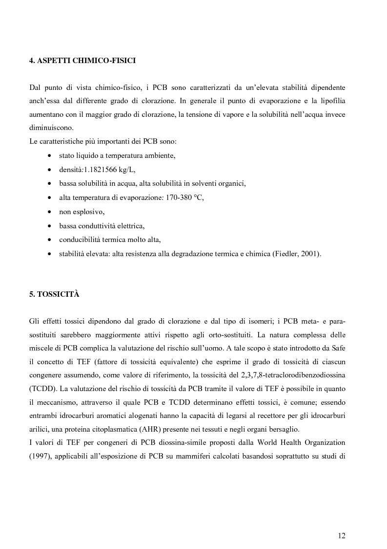 Anteprima della tesi: Indagine sulla contaminazione da ''Policlorobifenili'' (PCBs) di matrici alimentari, Pagina 7