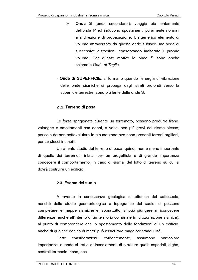 Anteprima della tesi: Progetto di capannoni industriali in zona sismica secondo nuova normativa, Pagina 14