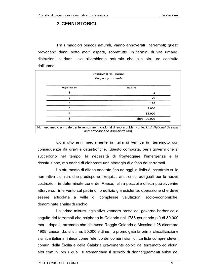 Anteprima della tesi: Progetto di capannoni industriali in zona sismica secondo nuova normativa, Pagina 3
