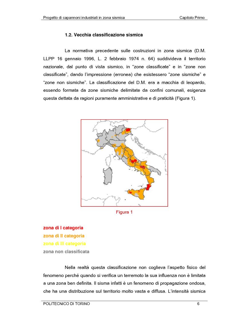 Anteprima della tesi: Progetto di capannoni industriali in zona sismica secondo nuova normativa, Pagina 6