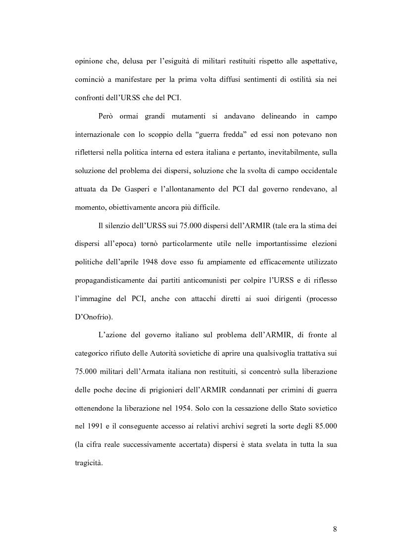 Anteprima della tesi: I prigionieri italiani in Unione Sovietica tra storiografia e fonti d'archivio, Pagina 4