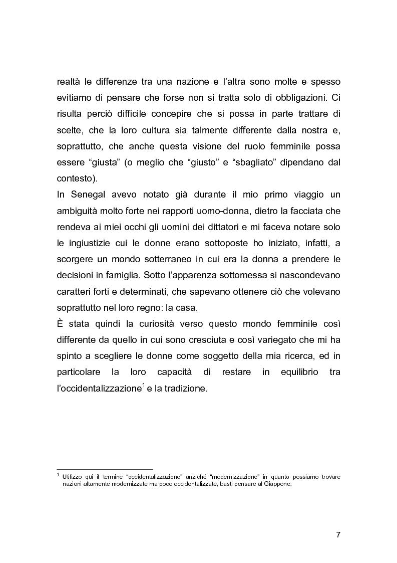 Anteprima della tesi: Essere donna nella zona di Dakar: una ricerca antropologica sul campo, Pagina 3