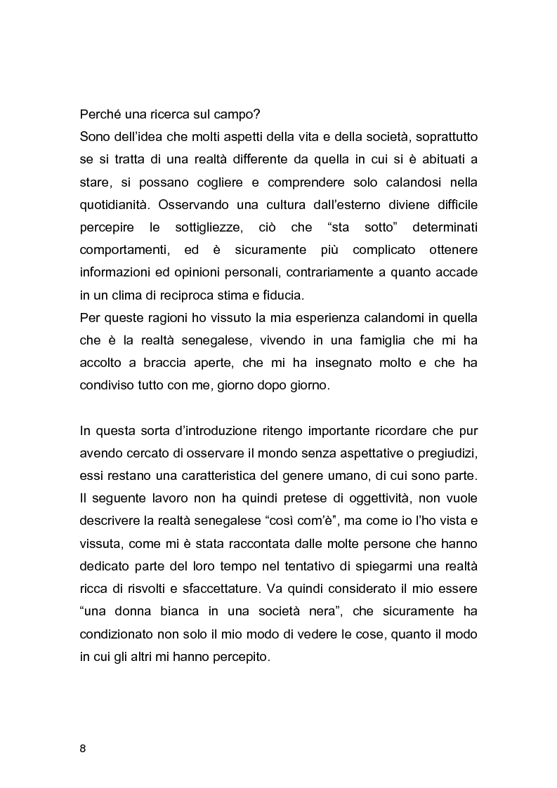 Anteprima della tesi: Essere donna nella zona di Dakar: una ricerca antropologica sul campo, Pagina 4