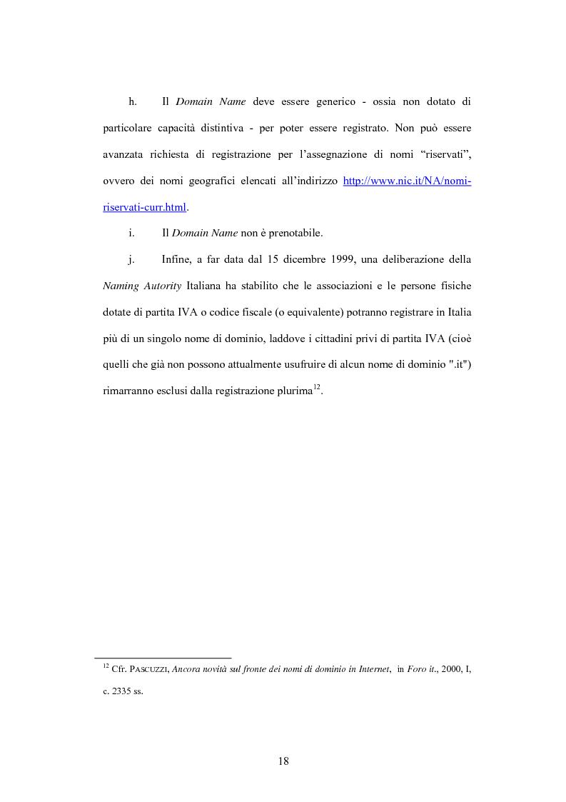 Anteprima della tesi: Internet e illecito civile: la responsabilità derivante dall'uso illecito dei nomi di dominio, Pagina 13