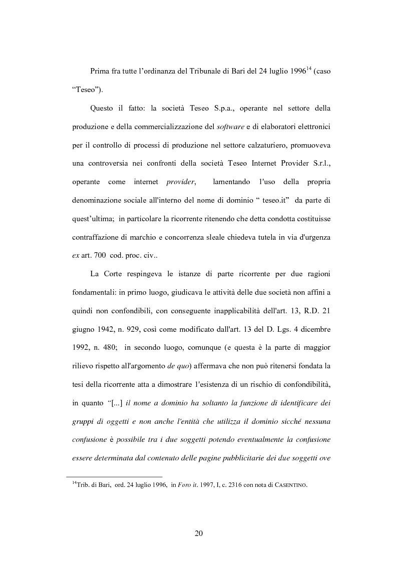 Anteprima della tesi: Internet e illecito civile: la responsabilità derivante dall'uso illecito dei nomi di dominio, Pagina 15