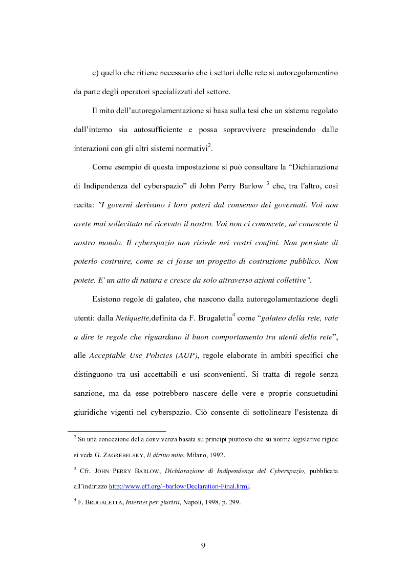 Anteprima della tesi: Internet e illecito civile: la responsabilità derivante dall'uso illecito dei nomi di dominio, Pagina 4